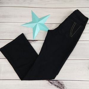 NYDJ 4 bootcut black jeans contrast stitch pockets
